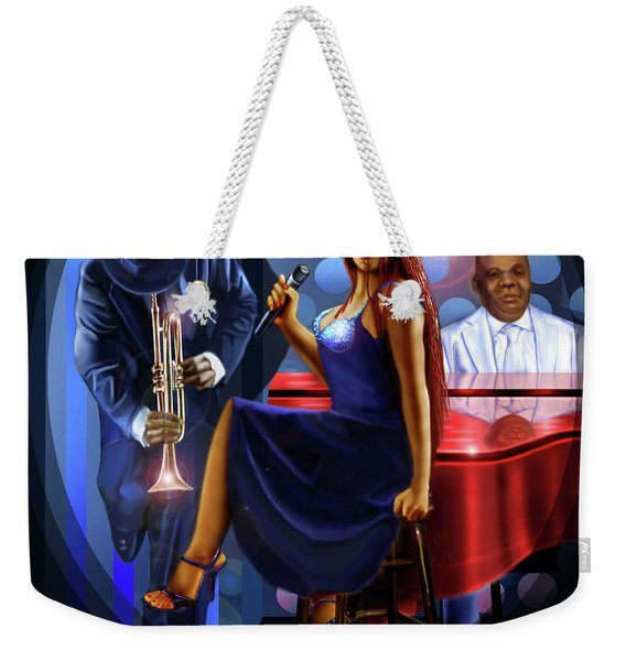 The Lady Jazz Singer Weekender Tote Bag
