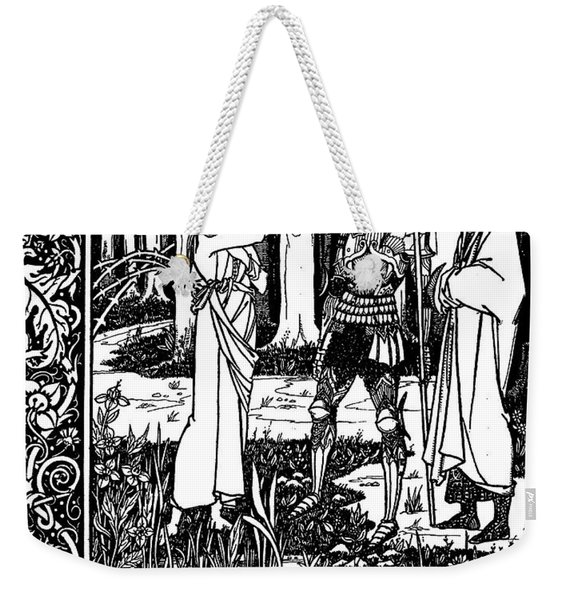 The Lady Of The Lake Telleth Arthur Of The Sword Excalibur Weekender Tote Bag