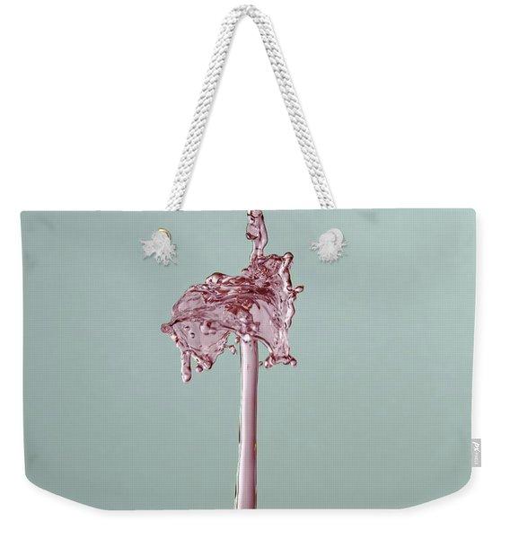 The Lady On The Water Drop Weekender Tote Bag
