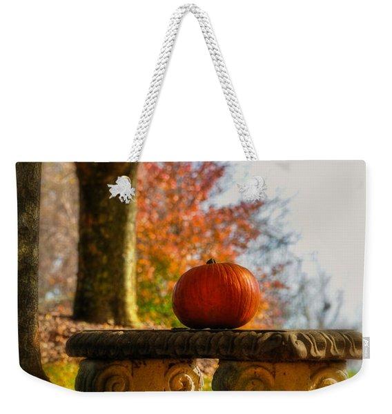 The Last Pumpkin Weekender Tote Bag