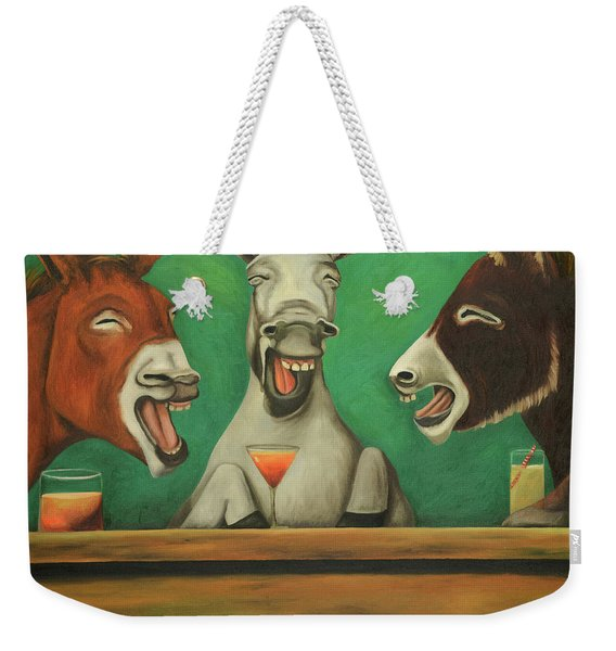 The Drunken Asses Weekender Tote Bag