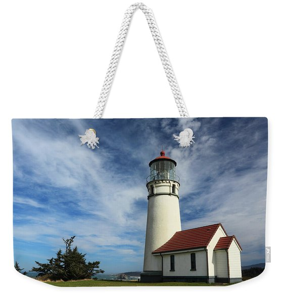 The Lighthouse At Cape Blanco Weekender Tote Bag
