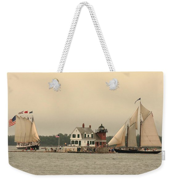 The Lighthouse At Rockland Weekender Tote Bag