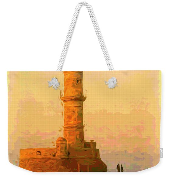 The Lighthouse In Chania Weekender Tote Bag