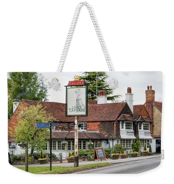 Weekender Tote Bag featuring the photograph The Links Tavern by Michael Hope