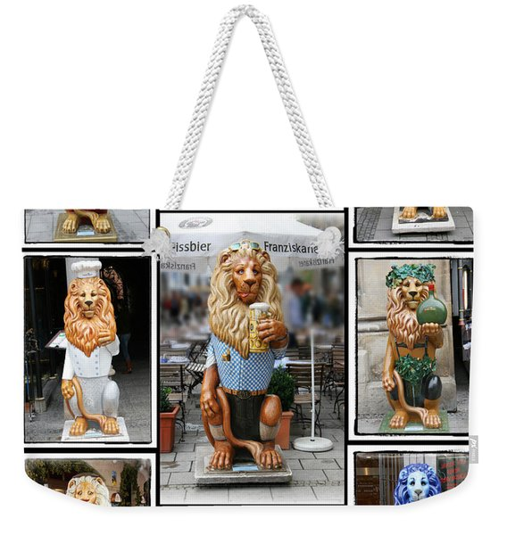The Lions Of Munich Weekender Tote Bag