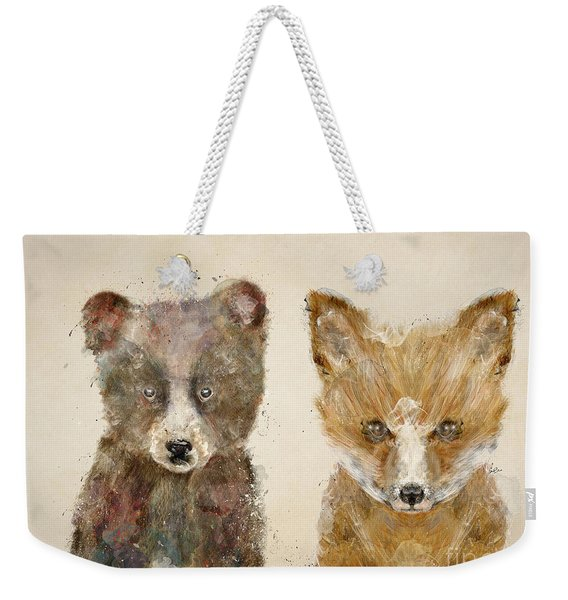 The Little Bear And Little Fox Weekender Tote Bag