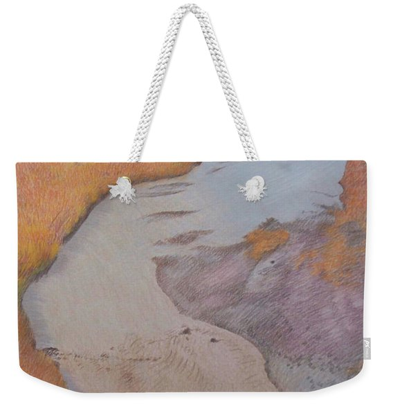 Weekender Tote Bag featuring the pastel The Little Mo by Cris Fulton