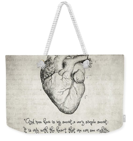 The Little Prince Quote Weekender Tote Bag