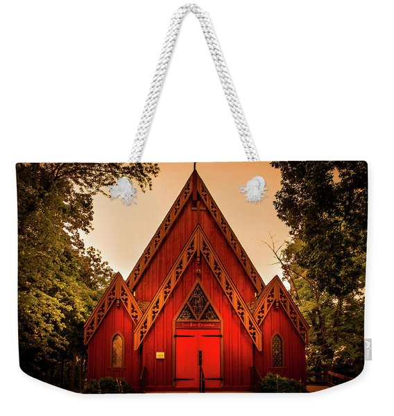 The Little Red Church Weekender Tote Bag