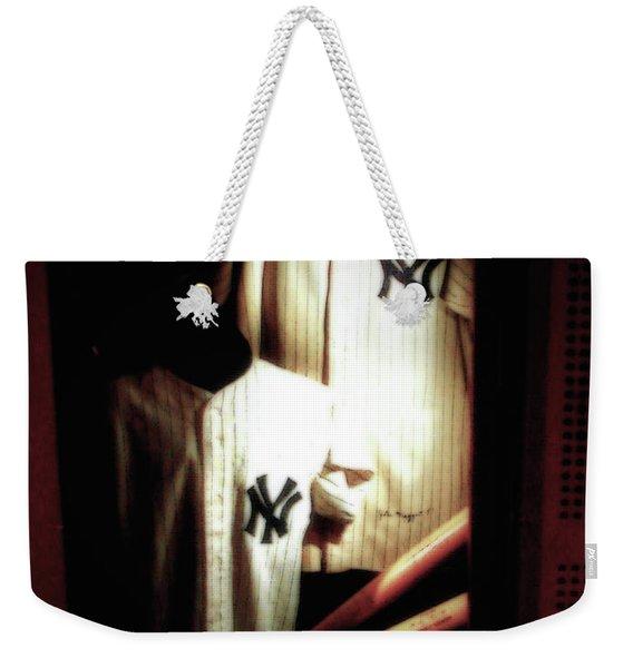 The Locker  Mickey Mantle's And Joe Dimaggio's Locker Weekender Tote Bag