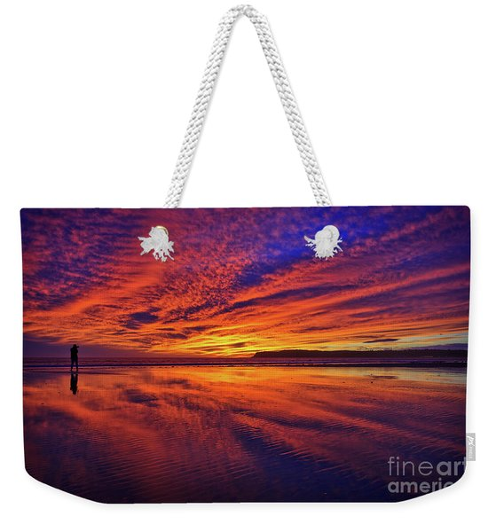 Weekender Tote Bag featuring the photograph The Lone Photographer by Sam Antonio Photography