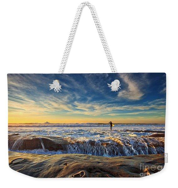 The Lone Surfer Weekender Tote Bag