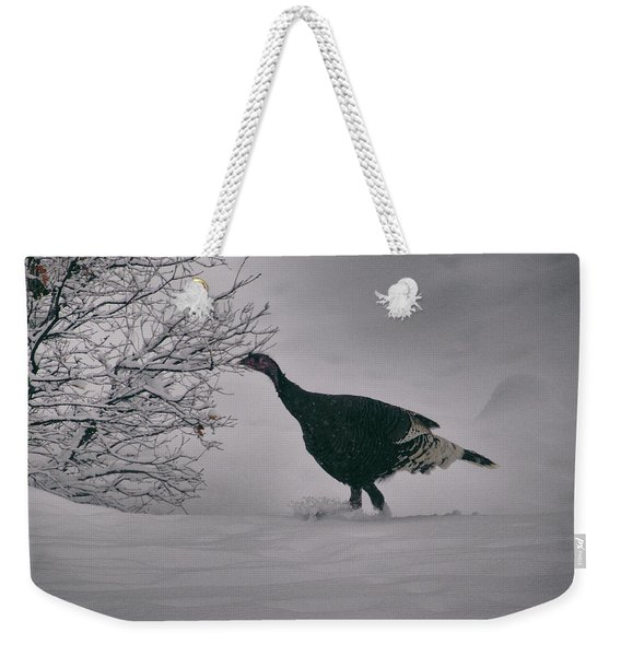 Weekender Tote Bag featuring the photograph The Lone Turkey by Jason Coward
