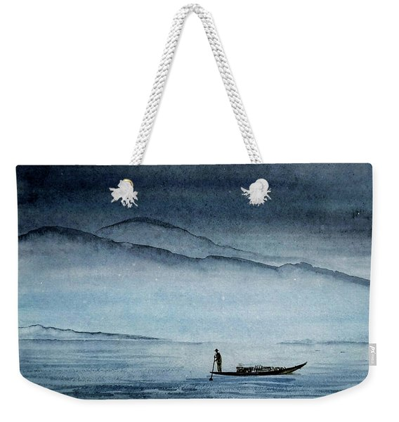 The Lonely Boat Man Weekender Tote Bag