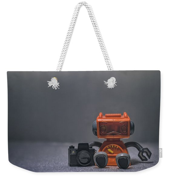 The Lonely Robot Photographer Weekender Tote Bag