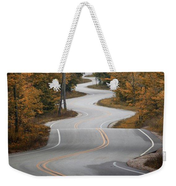 The Long Winding Road Weekender Tote Bag