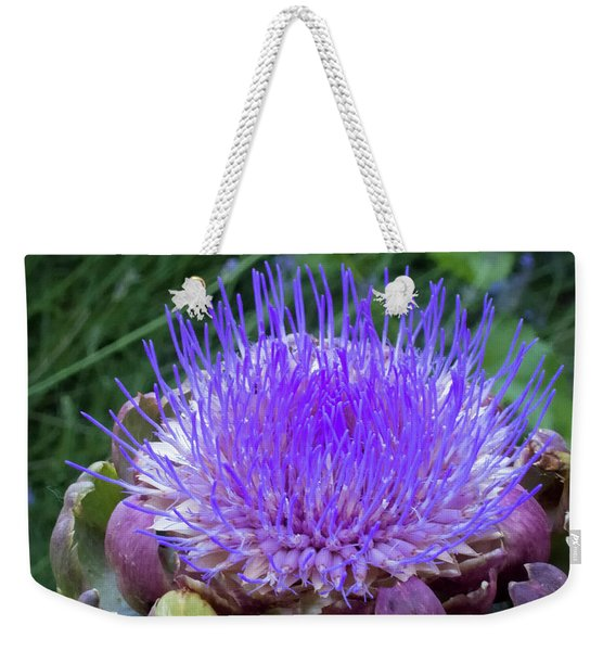 Weekender Tote Bag featuring the photograph The Loveliness Of An Artichoke by Mary Lee Dereske