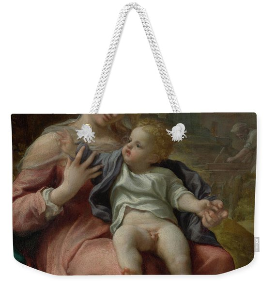 The Madonna Of The Basket Weekender Tote Bag