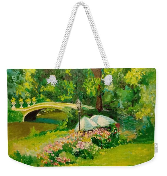 The Magnificent Bow Bridge Weekender Tote Bag