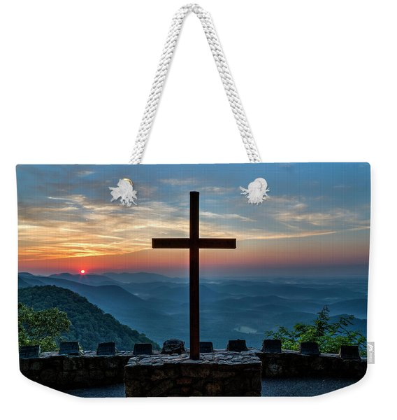 The Magnificent Cross Pretty Place Chapel Greenville Sc Great Smoky Mountains Art Weekender Tote Bag
