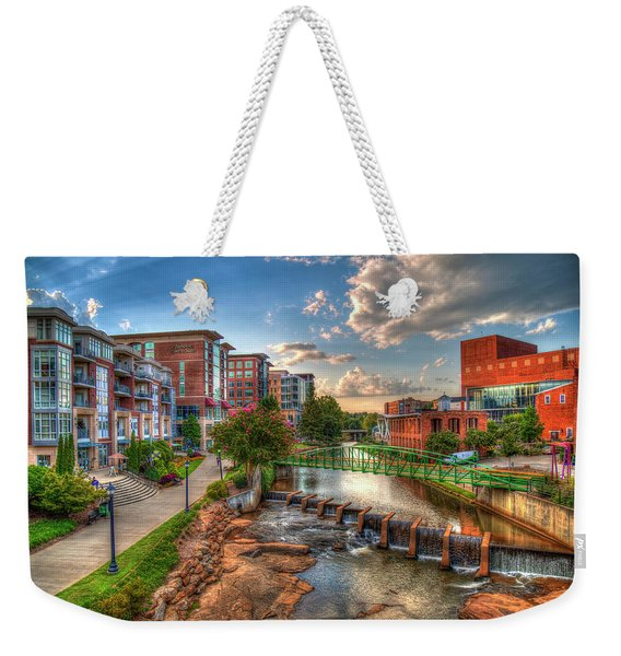 The Main Attraction Reedy River Greenville South Carolina Art Weekender Tote Bag