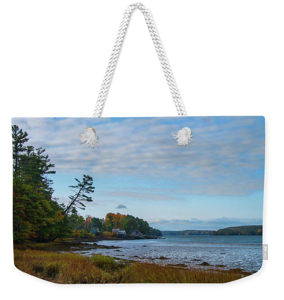 The Maine Coast Near Edgecomb  Weekender Tote Bag