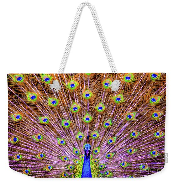 The Majestic Peacock Weekender Tote Bag