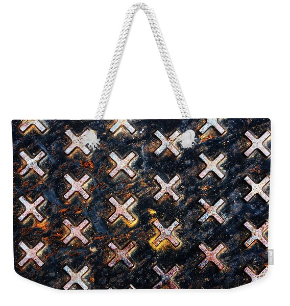 The Manhole Weekender Tote Bag