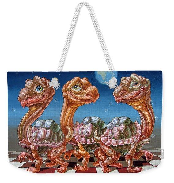 The March Of Lunar Turtles Weekender Tote Bag