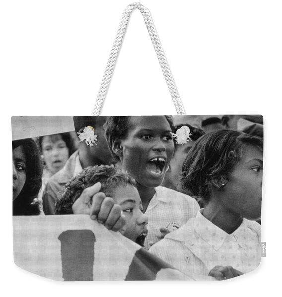 The March On Washington   A Group From Detroit Weekender Tote Bag