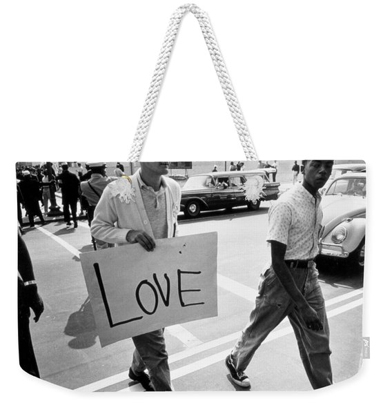 The March On Washington   Love Weekender Tote Bag