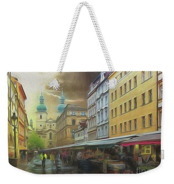 The Market In The Rain Weekender Tote Bag