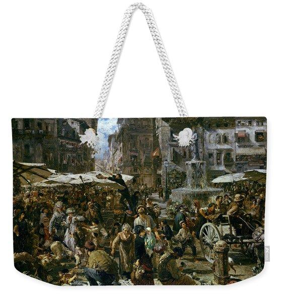The Market Of Verona Weekender Tote Bag