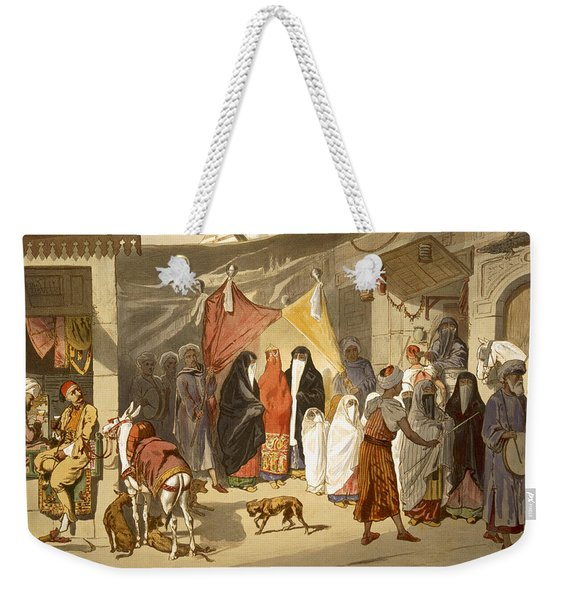 The Marriage Of An Arab In Cairo Weekender Tote Bag