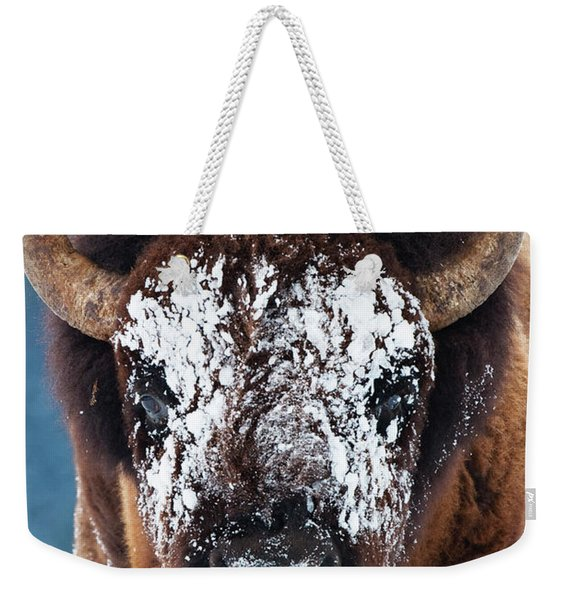 The Masked Bison Weekender Tote Bag