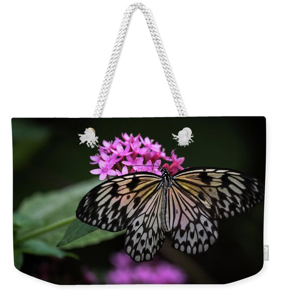 The Master Calls A Butterfly Weekender Tote Bag
