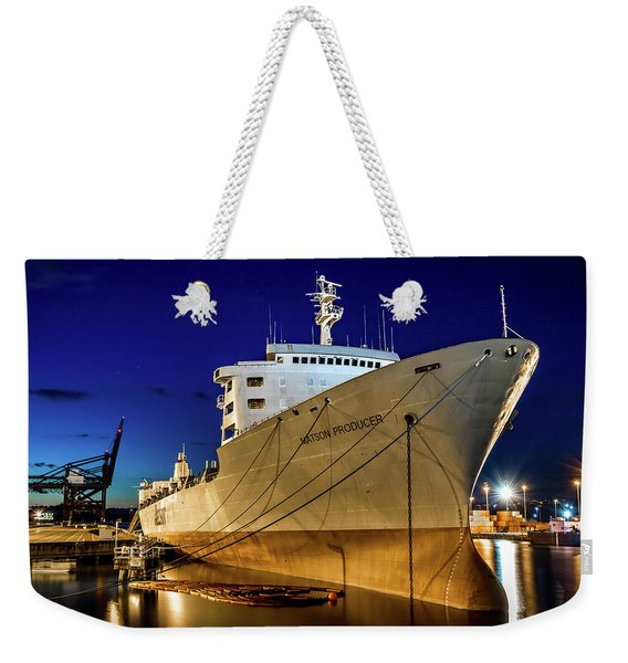 The Matson Producer During Blue Hour Weekender Tote Bag