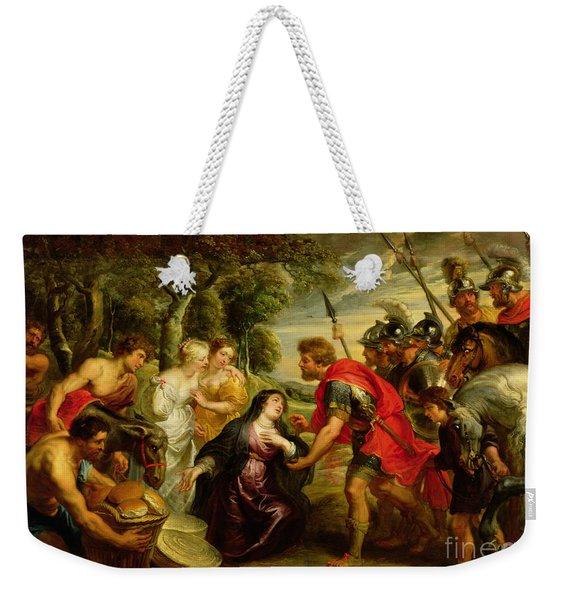 The Meeting Of David And Abigail Weekender Tote Bag
