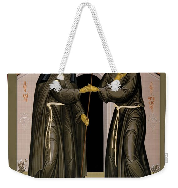 The Meeting Of Sts. Francis And Clare - Rlfac Weekender Tote Bag