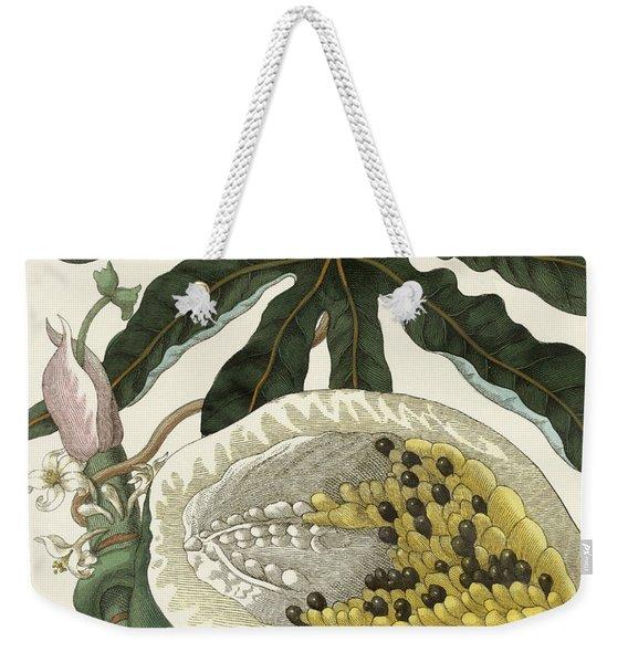 The Melon Or Papaya Tree Weekender Tote Bag