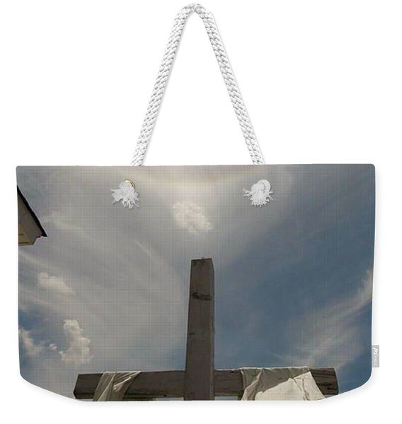 The Message Of The Cross Weekender Tote Bag