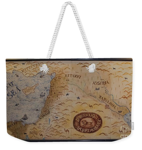 Weekender Tote Bag featuring the photograph The Middle East by Mae Wertz