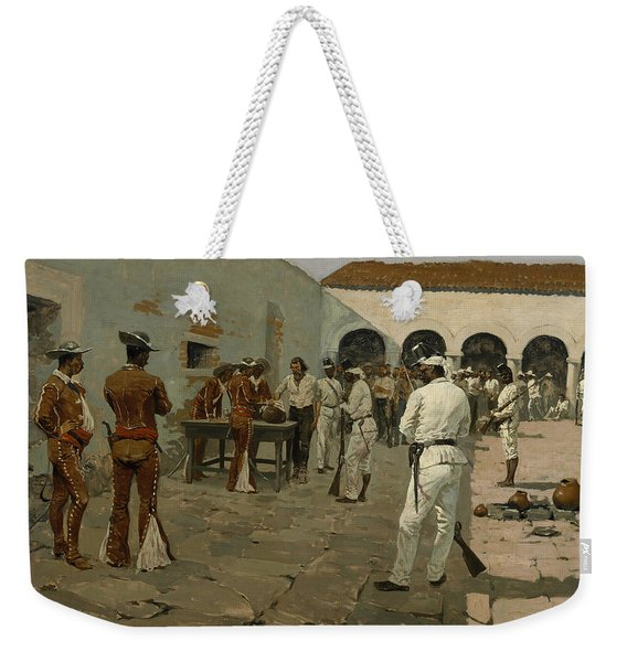 The Mier Expedition The Drawing Of The Black Bean  Weekender Tote Bag