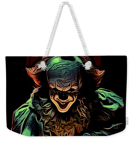 the Mighty Clown Weekender Tote Bag