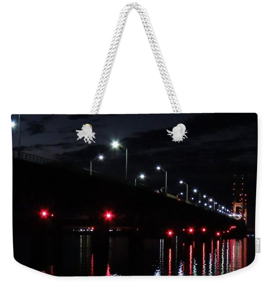 The Mighty Mac On A Calm Night Weekender Tote Bag
