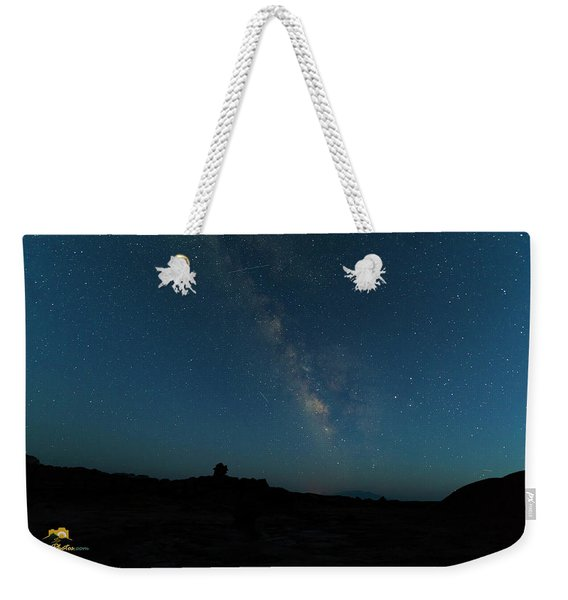 Weekender Tote Bag featuring the photograph The Milky Way At Goblin Valley by Jim Thompson