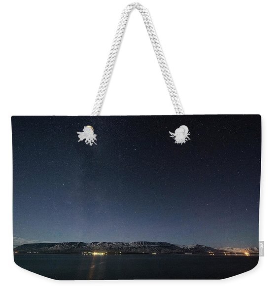 The Milky Way Over Northern Iceland Weekender Tote Bag