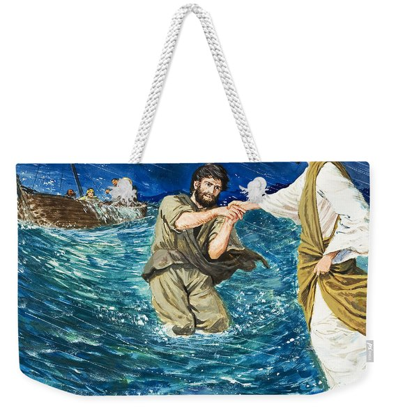 The Miracles Of Jesus Walking On Water  Weekender Tote Bag