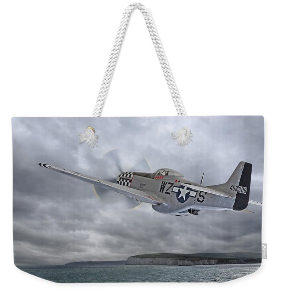 The Mission - P51 Over Dover Weekender Tote Bag